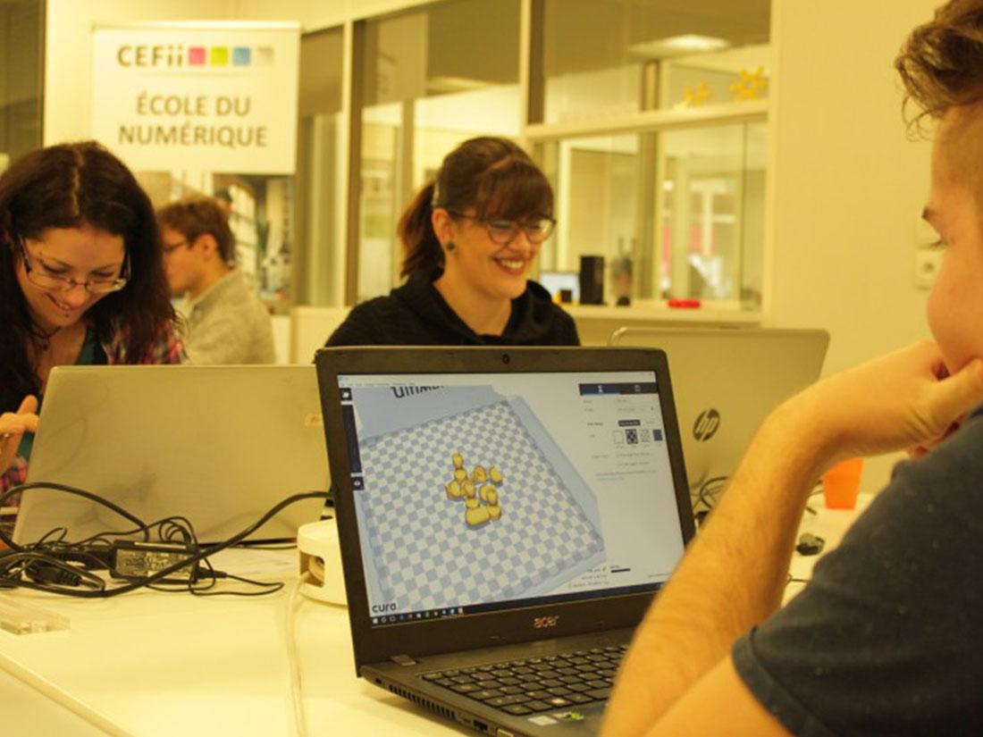 Formation Designer Web CEFii - projet coiffeur conception 3D